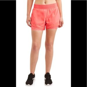NEW AVIA Semi-Fitted Salmon Running Short-Size S